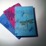 Textile wrapped books